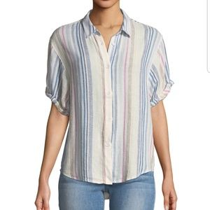 Splendid Striped Button Front Shirt Like New M